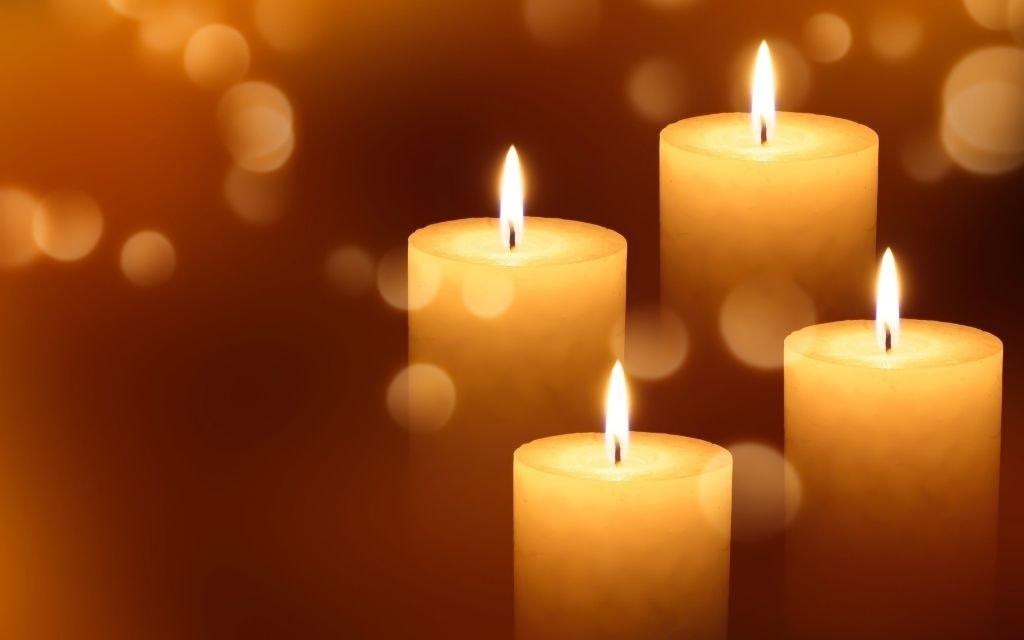 Advent Kerze Frieden
